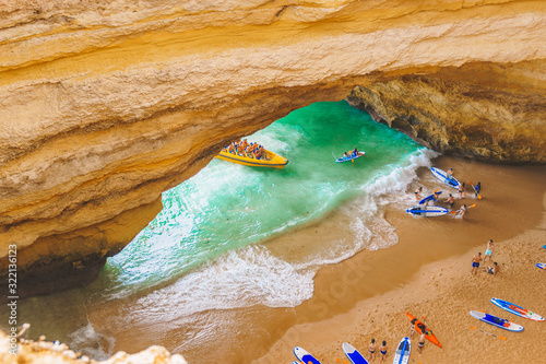 Benagil cave in Portugal, Carvoeiro Algarve, Lagos Canvas Print