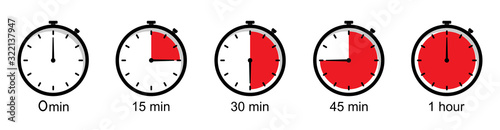 Photo Timer icons on a white background