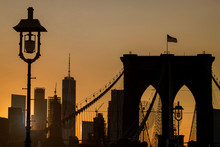 NYC Brooklyn Bridge Skyline Ma...