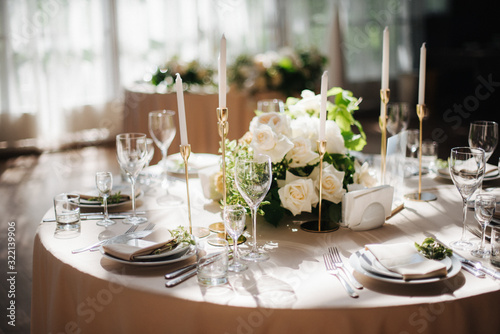 Tableau sur Toile elegant wedding table setting