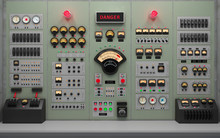 Vintage Control Room Backgroun...