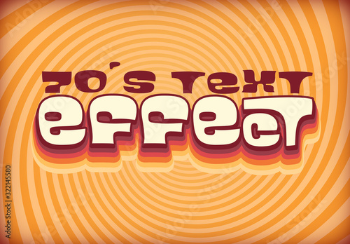 Fototapeta Text Effect Layout with 60S Style Design obraz