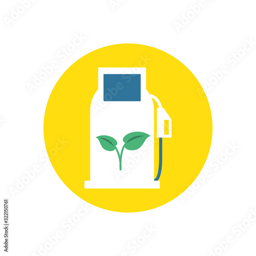 Fototapeta station service ecology isolated icon obraz