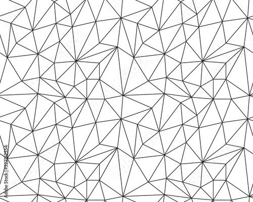 fototapeta na szkło Seamless polygonal pattern background, creative design templates