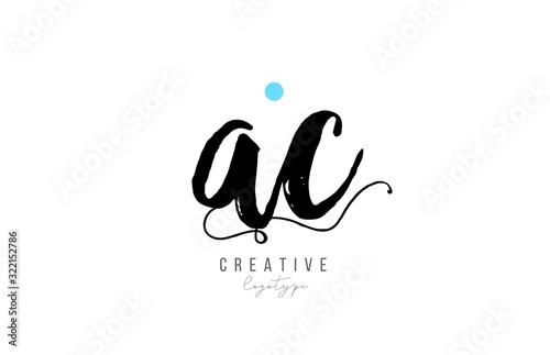 Photo ac a c vintage letter alphabet combination logo icon handwritten design for company business