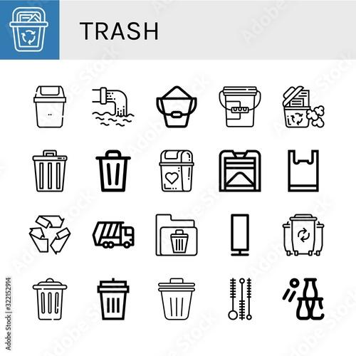 Fototapety, obrazy: trash icon set