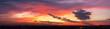 fiery sunset in the sky