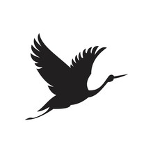 Bird Or Herons Flying Icon Template Black Color Editable. Bird Or Herons Flying Icon Symbol Flat Vector Illustration For Graphic And Web Design.
