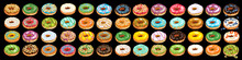 Set Of Colorful Glazed Donuts ...
