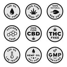 Set Of CBD Themed Logotypes: G...