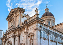 Facade Of Dubrovnik Cathedral ...