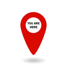 Marker Location Icon With You Are Here