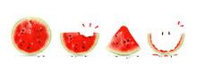 Creative Layout Made Of Cute Watermelon. Watermelon Card.