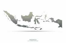 Graphic Vector Of Indonesia Map. South Asia Country Map. Jakarta Map.