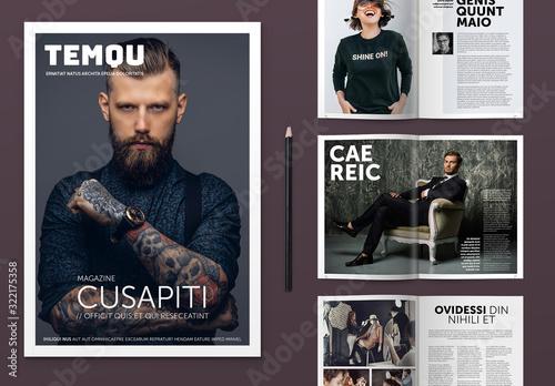 Fototapeta Modern Style Magazine Layout obraz