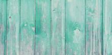 Vintage Pale Teal Wood Backgro...