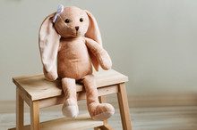 Kids Soft Toy Rabbit With Bow ...