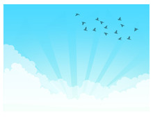 Vector Images, Cloudy Sky Back...