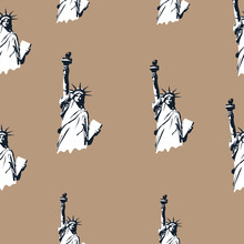 Statue Of Liberty Pattern In V...
