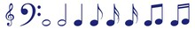 Music Notes Icon Blue | Note I...