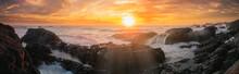 Beluga Sunset Panoramic Banner...
