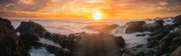 Beluga sunset panoramic banner style