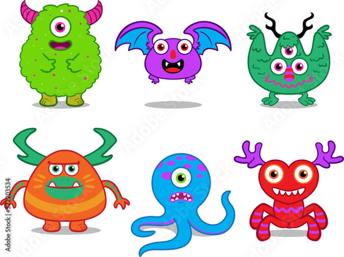 Платно illustration vector graphic of monster character