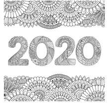 Line Art Drawing 2020 Inside F...