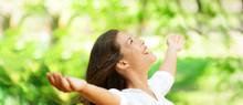 Happy Clean Air Asian Woman Br...