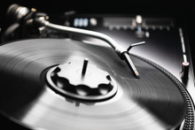Abstract Turntable With Vinyl ...