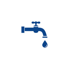 Water Faucet Icon Design Vecto...