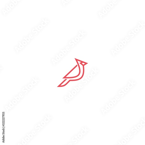 Tablou Canvas logo abstract cardinal line vector