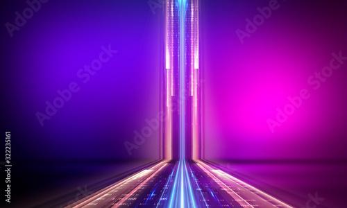 Fotografía Ultraviolet abstract light