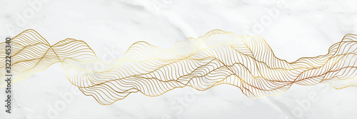 Golden line art deco luxury classic Pattern, Marble and vector arts shape wallpaper design, Wallpaper Warehouse, packaging, Vip wallpaper, premium texture with watercolour vector illustration.