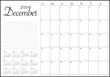 December 2020 desk calendar vector illustration