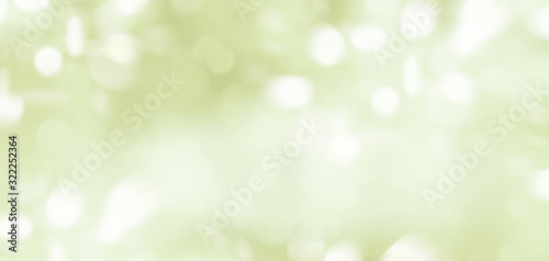 Fototapety, obrazy: Abstract illustration of blurred light spots on light green background