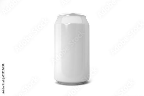 Cuadros en Lienzo White soda can isolated on white background.