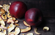 Dried Apple Chips And Two Red ...