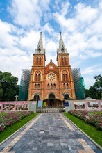 Vertical Image Of Notre-Dame C...