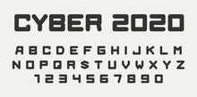 Futuristic Font For Headers, Digital, Technology, Sport Logo Design. Vector Alphabet Letters And Numbers