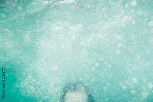 bajo el agua Canvas Print