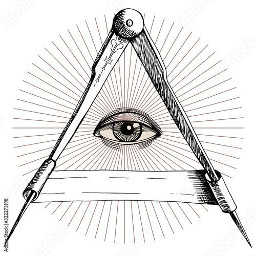 Vector occult icon Slika na platnu