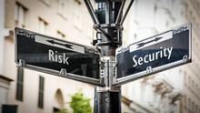 Street Sign To Security Versus...