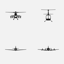 Set Of Military Aircrafts And ...