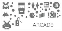 Modern Simple Set Of Arcade Ve...