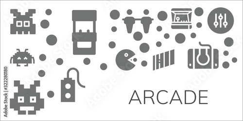 Modern Simple Set of arcade Vector filled Icons Fototapet