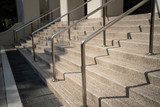 Fototapeta Na drzwi - outdoor stairs with metal handrail