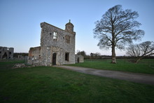 The Outer Gatehouse Of Baconsthorpe Castle, A Ruined Manor House In Norfolk, England, UK.