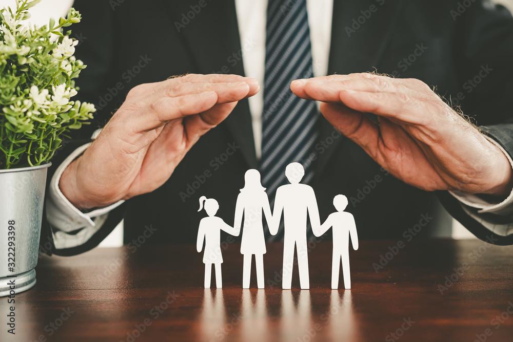 Fototapeta Concept of family insurance