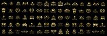 Royal Logo Set - Isolated On B...